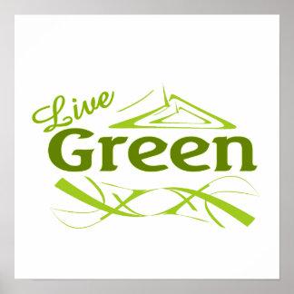 live green print