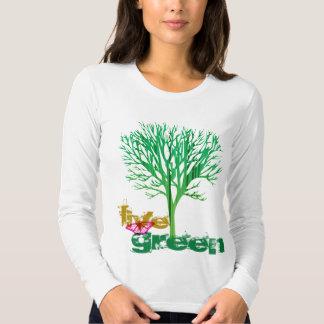 Live Green T Tee Shirts