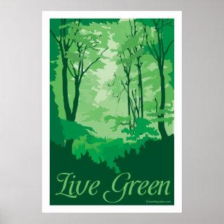 Live Green - Tree Hugger Poster