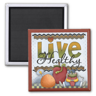 Live Healthy Fruits and Critters Kitchen Magnet 2