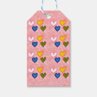 Live hearts gift tags