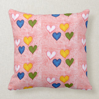Live hearts throw pillow