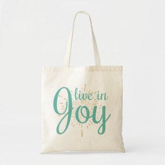 Live in Joy | Tote Reusable Bag