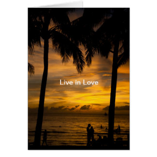 Live in Love Greeting Card