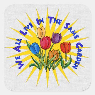 Live In Peace Garden Square Sticker