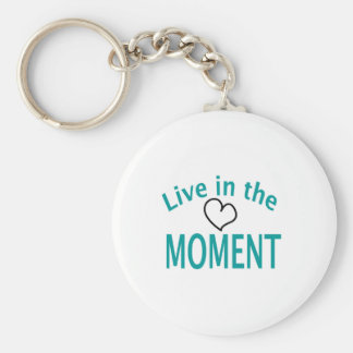Live in the MOMENT Collection Basic Round Button Keychain