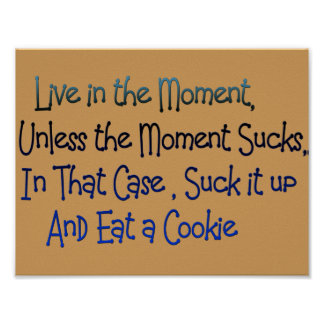 live in the moment funny motivational poster