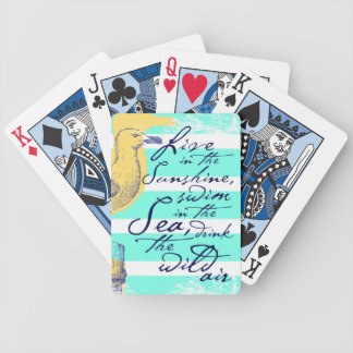 Live in the Sunshine Bicycle Playing Cards