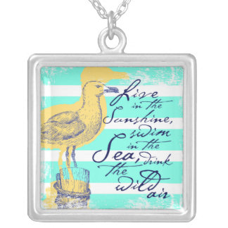 Live in the Sunshine Silver Plated Necklace