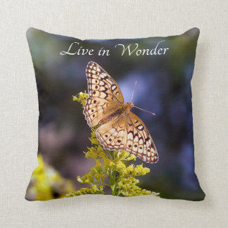 Live in Wonder Butterfly Throw Pillow
