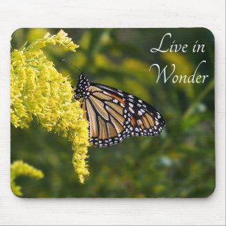 Live in Wonder Monarch Butterfly Mousepad