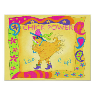 Live It Up Chick Power Poster