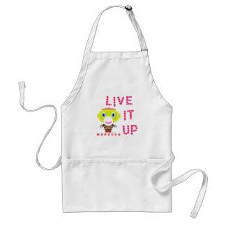 Live It Up-Cute Monkey-Morocko Standard Apron