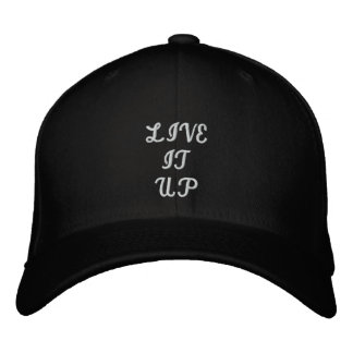 LIVE IT UP EMBROIDERED BASEBALL CAP
