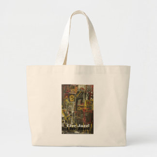 live jazz tote bags
