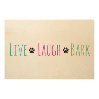 Live Laugh Bark Wood Canvas