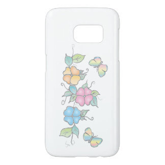 Live Laugh | Butterfly Floral Watercolor Samsung Galaxy S7 Case