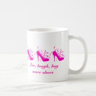 Live, Laugh, Buy More Shoes Mug
