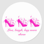 Live, Laugh, Buy More Shoes Stickers