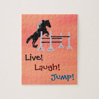Live! Laugh! Jump! Equestrian Horse Jigsaw Puzzle
