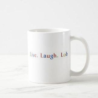 Live. Laugh. Lob. Coffee Mug