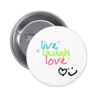 live, laugh, love 2 inch round button