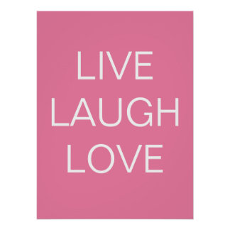 live - laugh - love  art print