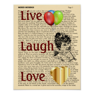 Live Laugh Love - art print 11x14
