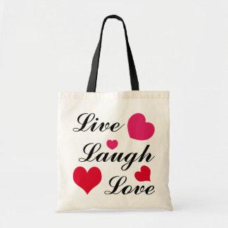 Live, Laugh, Love Canvas Bags