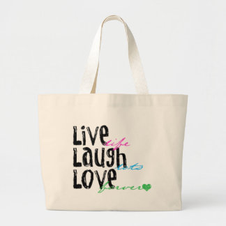 Live Laugh Love Jumbo Tote Bag