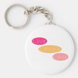 Live Laugh Love Basic Round Button Keychain