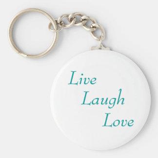 Live, Laugh, Love Basic Round Button Keychain