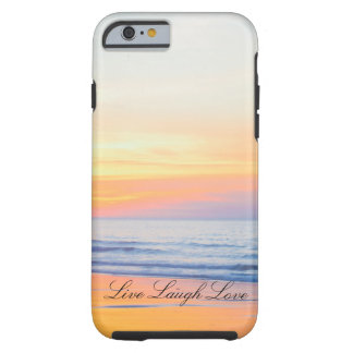 Live Laugh Love Beach Sunset Phone Case