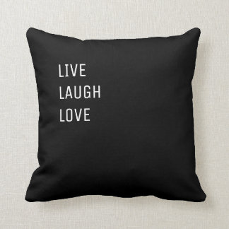 Live Laugh Love |  Black and White Two in One Throw Pillow