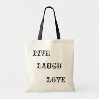 LIVE, LAUGH, LOVE BUDGET TOTE BAG