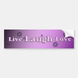 Live laugh love bumper sticker