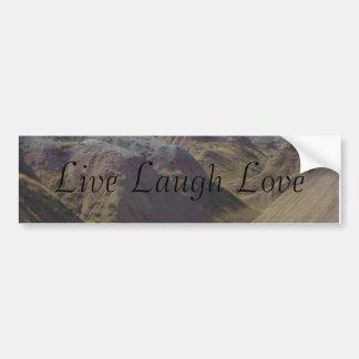 Live Laugh Love Bumpersticker Bumper Sticker