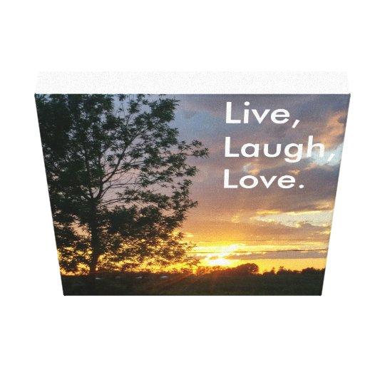 Live, Laugh, Love canvas