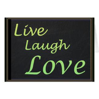 Live Laugh Love Card
