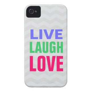 Live Laugh Love, chevron background iPhone 4/4s Case-Mate iPhone 4 Cases