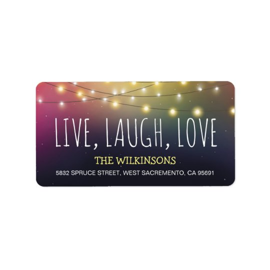 Live, Laugh, Love Christmas | Jolly Holiday Label