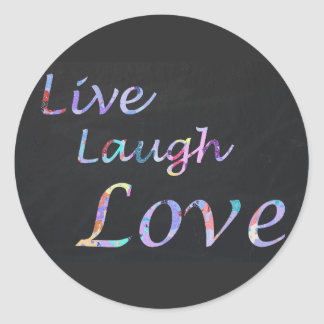 Live Laugh Love Classic Round Sticker