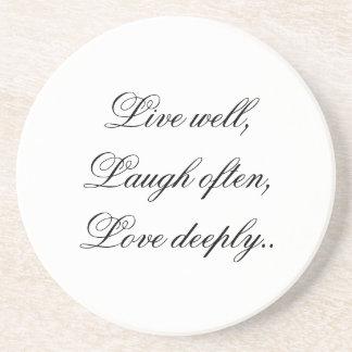 Live Laugh Love Coaster