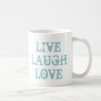 Live laugh love coffee mug for friends and family