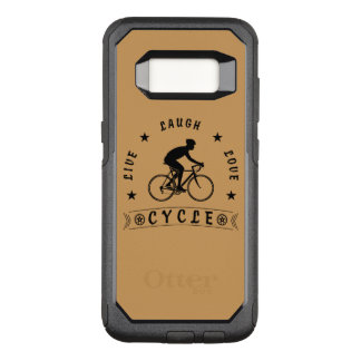 Live Laugh Love Cycle (blk text) OtterBox Commuter Samsung Galaxy S8 Case