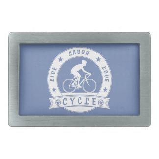 Live Laugh Love Cycle (wht circle) Belt Buckles