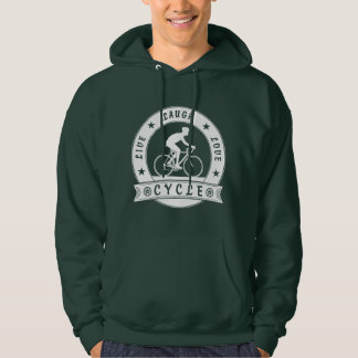 Live Laugh Love Cycle (wht circle) Hoodie