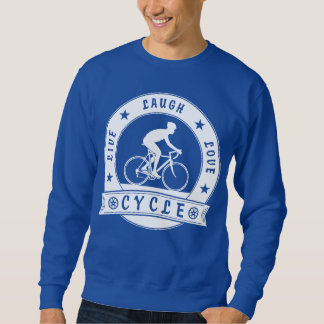 Live Laugh Love Cycle (wht circle) Sweatshirt