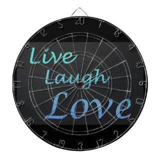 Live Laugh Love Dartboard