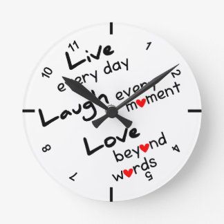 Live, Laugh, Love Design Wall clock